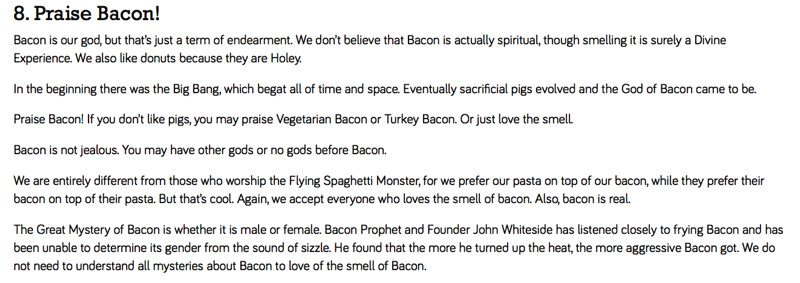Bacon Commandments