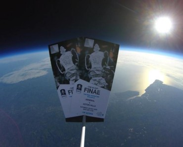 FA Cup Tickets Launched Into Space
