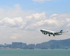 Hong Kong Cathay Pacific Flight
