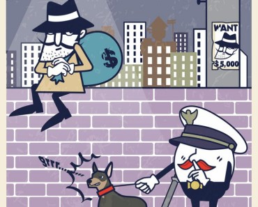 bank robber cartoon